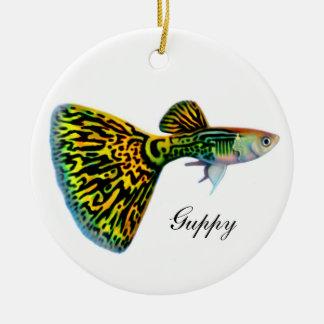 Male Snakeskin Guppy Fish Customizable Ornament
