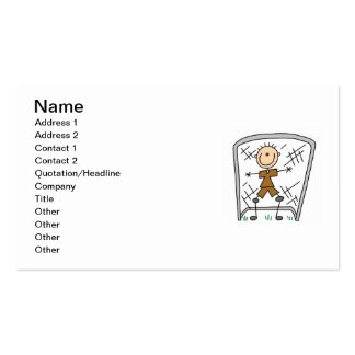 Male Soccer Goal Keeper T-shirts and Gifts Double-Sided Standard Business Cards (Pack Of 100)