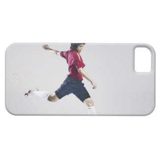 Male soccer player preparing to kick ball iPhone SE/5/5s case