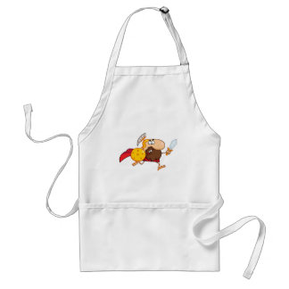 Male Spartan Gladiator  with Sword Adult Apron