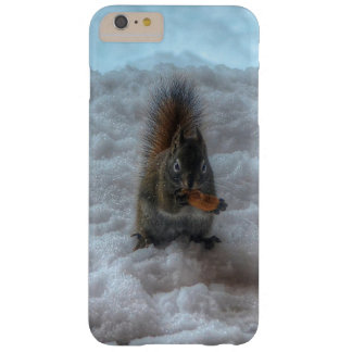 Male Squirrel Standing in Snow Wildlife Photo Barely There iPhone 6 Plus Case