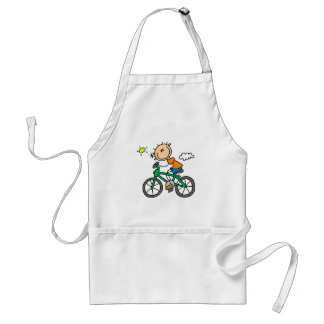 Male Stick Figure Bicyclist Tshirts and gifts Adult Apron
