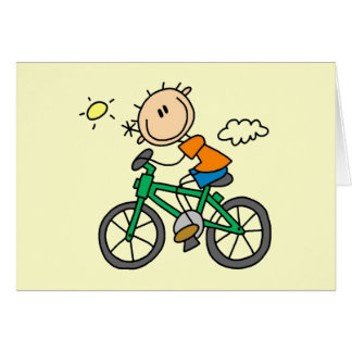 Male Stick Figure Bicyclist Tshirts and gifts Card