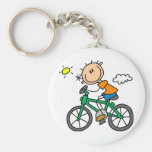 Male Stick Figure Bicyclist Tshirts and gifts Key Chains