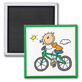 Male Stick Figure Bicyclist Tshirts and gifts Magnet