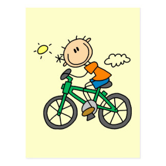 Male Stick Figure Bicyclist Tshirts and gifts Postcard