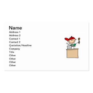 Male Stick Figure Cook Double-Sided Standard Business Cards (Pack Of 100)