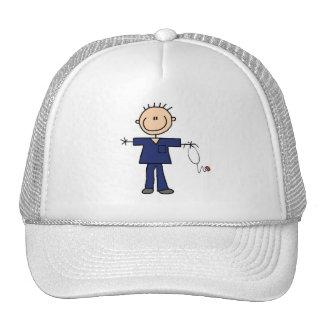 Male Stick Figure Nurse - Blue Mesh Hats