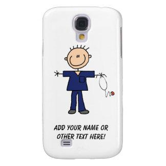 Male Stick Figure Nurse - Blue Samsung Galaxy S4 Case