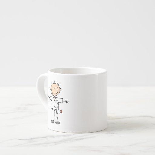 Male Stick Figure Nurse Espresso Cup