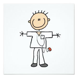 Male Stick Figure Nurse Invitation