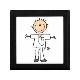 Male Stick Figure Nurse Jewelry Box