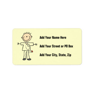 Male Stick Figure Nurse Label