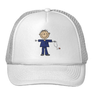 Male Stick Figure Nurse Medium Skin Mesh Hats