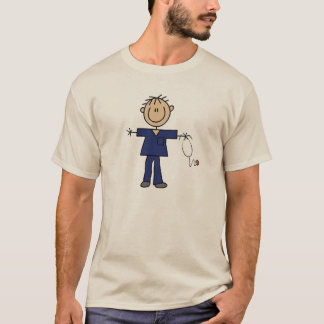 Male Stick Figure Nurse Medium Skin T-Shirt