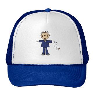 Male Stick Figure Nurse Medium Skin Trucker Hat