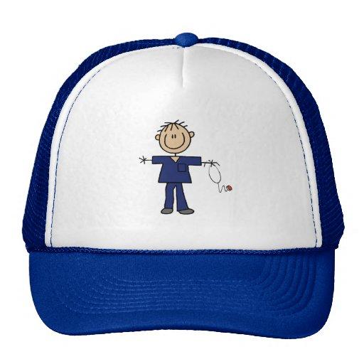 Male Stick Figure Nurse Medium Skin Trucker Hats