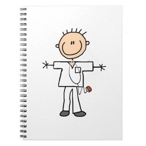 Male Stick Figure Nurse Notebooks