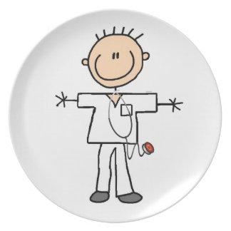 Male Stick Figure Nurse Plates