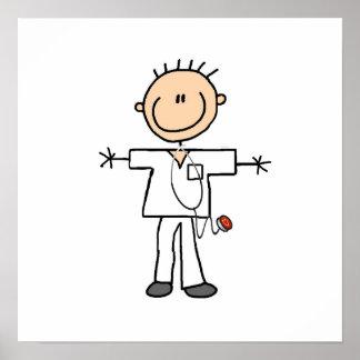 Male Stick Figure Nurse Poster
