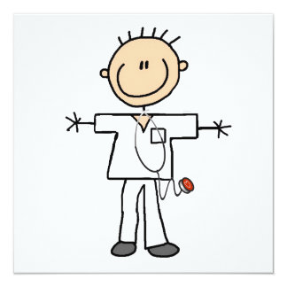 Male Stick Figure Nurse T-shirts and Gifts Card