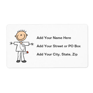 Male Stick Figure Nurse T-shirts and Gifts Label