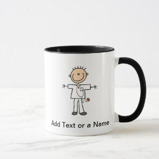 Male Stick Figure Nurse T-shirts and Gifts Mug