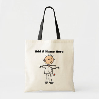 Male Stick Figure Nurse T-shirts and Gifts Tote Bag