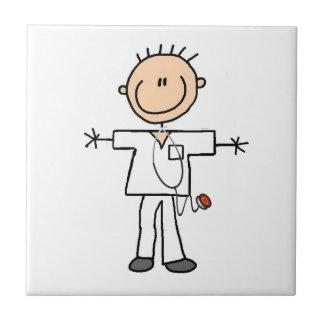 Male Stick Figure Nurse Tile