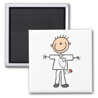 Male Stick Figure Nurse Tshirts and Gifts Magnet
