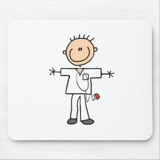 Male Stick Figure Nurse Tshirts and Gifts Mouse Pad