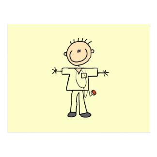 Male Stick Figure Nurse Tshirts and Gifts Postcard