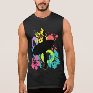 Male Surfer, Colorful Hibiscus T-Shirts