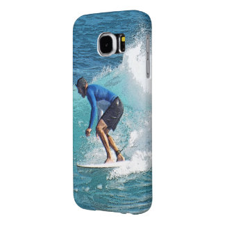 """""""MALE SURFER ENJOYING SOME OCEAN WAVES"""" SAMSUNG GALAXY S6 CASES"""