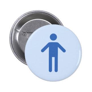Male symbol, blue man on lighter blue button