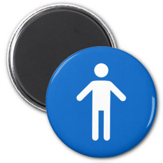 Male symbol, classic blue and white magnet