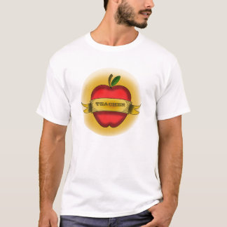 Male Teacher Shirt - Vintage Apple Tattoo