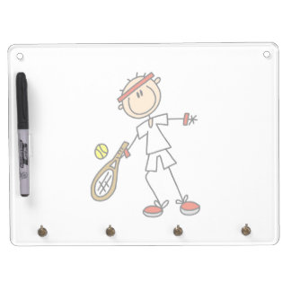 Male Tennis Player Dry-Erase Board