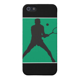 male tennis player silhouette design iPhone 5 cover