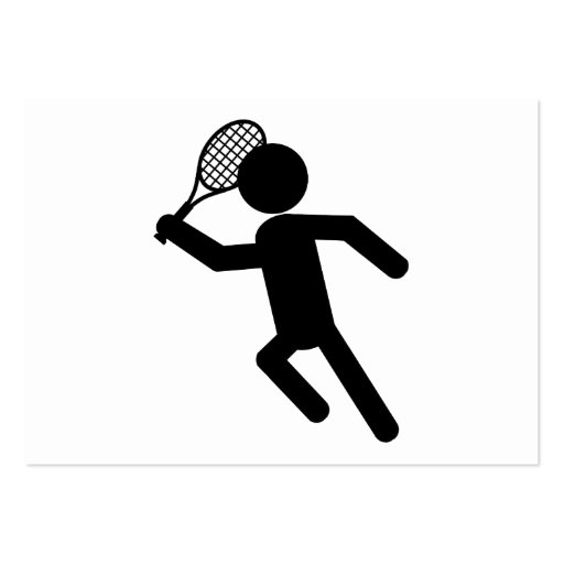 Male Tennis Player - Tennis Symbol Large Business Cards (Pack Of 100)