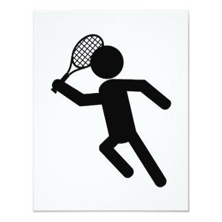 Male Tennis Player - Tennis Symbol Personalized Invite