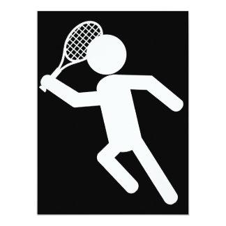 Male Tennis Player - Tennis Symbol (on Black) Card