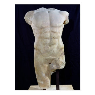 Male torso from Miletus, c.480 BC Postcard