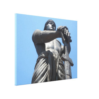 male torso sword canvas print