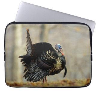 Male turkey strutting, Illinois Laptop Sleeve