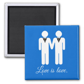 MALE WEDDING LOVE -.png 2 Inch Square Magnet
