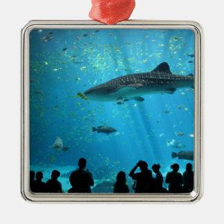 Male Whale Shark Metal Ornament