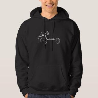Male Wheelchair Racer Dark Hoodie
