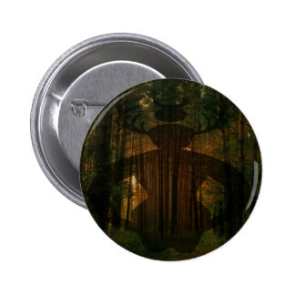 Male Witch Symbol Pinback Button