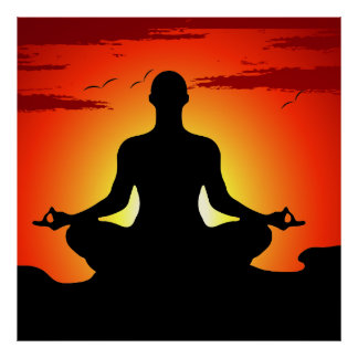 Male Yoga Meditating XL Poster